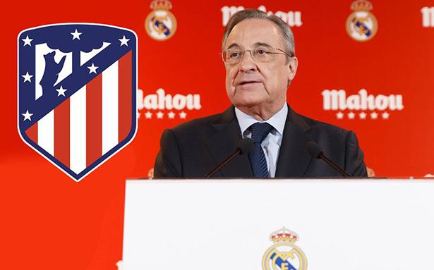 """Florentino lanza """"dardos"""" al Atlético de Madrid"""